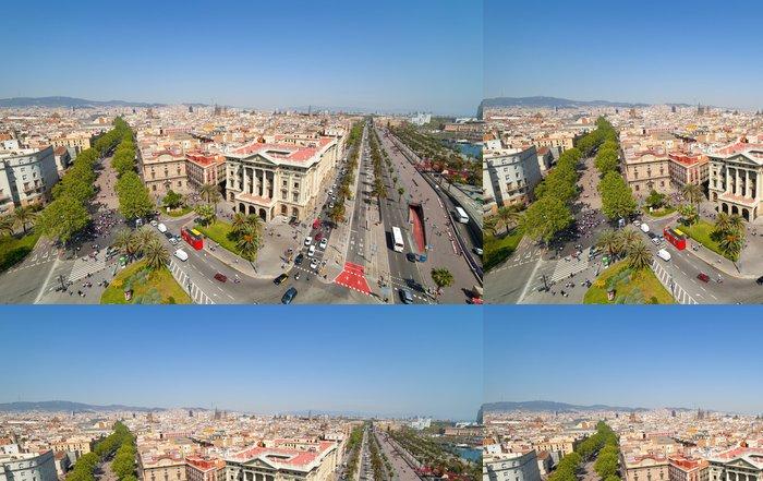 Tapeta Pixerstick Pohled shora Barcelona - Evropská města
