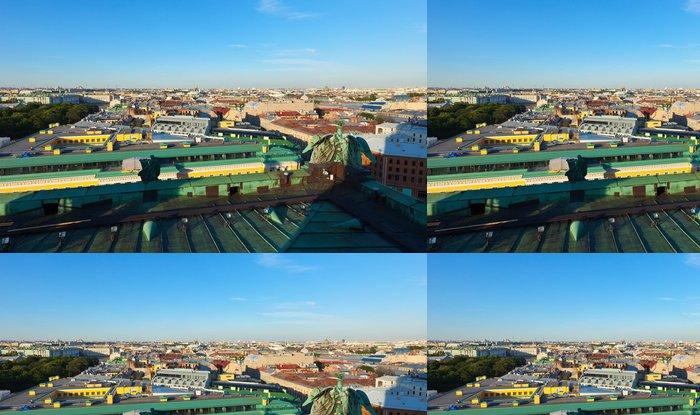 Tapeta Pixerstick Pohled shora z Petrohradu - Asie