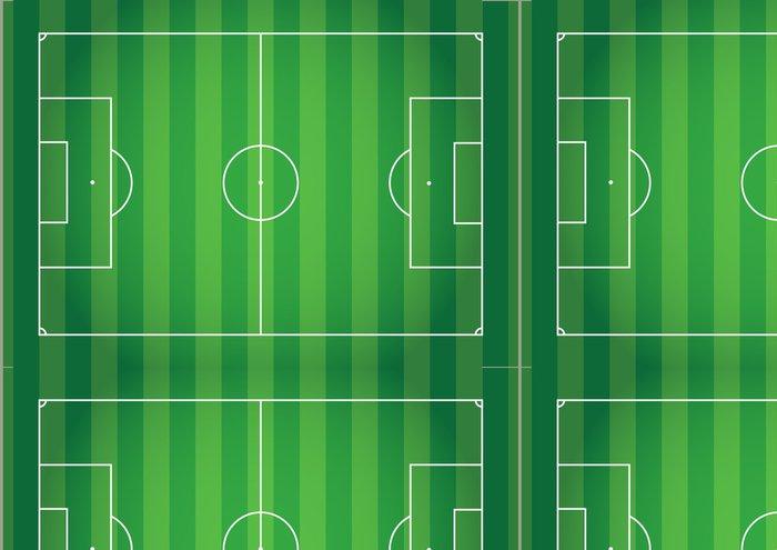 Tapeta Pixerstick Pohled shora zelená tráva linka fotbalový ročník tón. - Pozadí