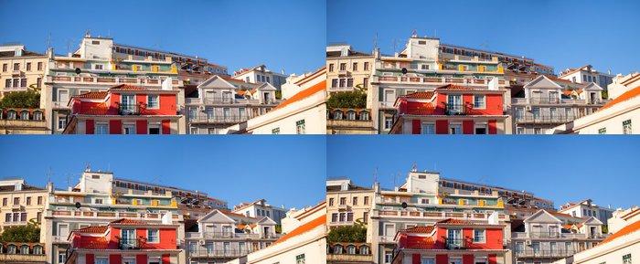 Vinylová Tapeta Pohled z differents budov v Alfama, Lisabon - Soukromé budovy