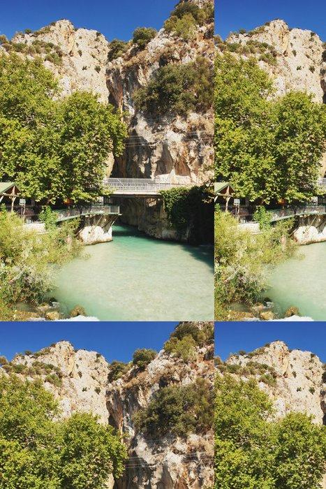 Tapeta Pixerstick Pohled z mostu u Saklikent kaňonu, Turecko - Střední Východ