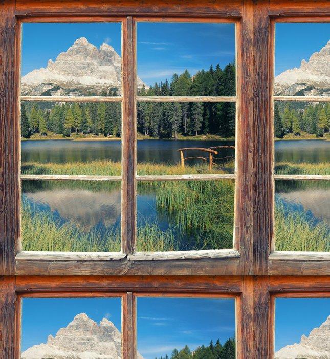 Tapeta Pixerstick Pohled z okna - Three Peaks - Evropa