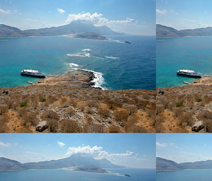 Vinylová Tapeta Pohled z vrcholu ostrova Gravmusa. Panorama. - Evropa