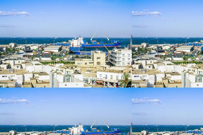 Tapeta Pixerstick Pohled z výšky přes port Sousse Tunisko - Afrika