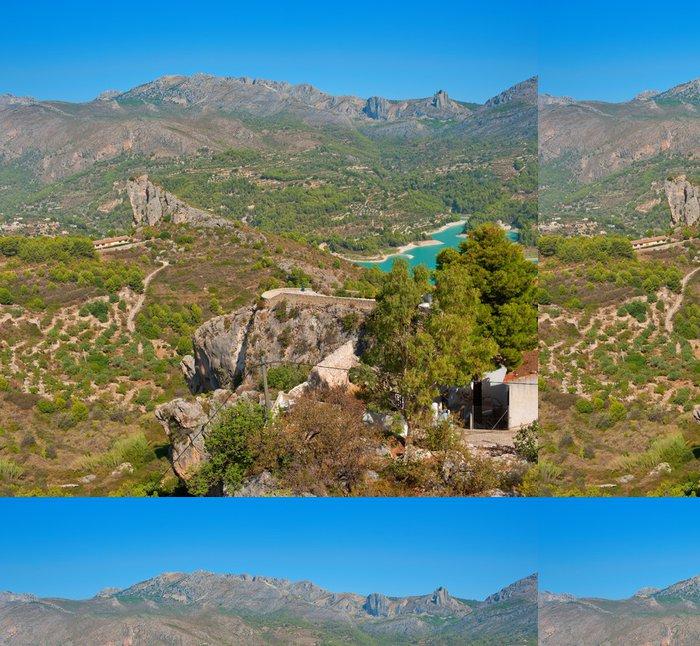 Vinylová Tapeta Pohledy na přehradě El Castell de Guadalest, Alicante, Španělsko - Evropa