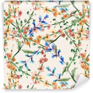 Tapeta Pixerstick Polní květiny bezešvé vzor