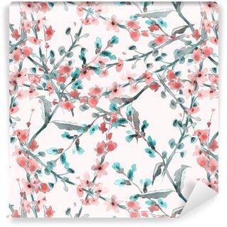 Vinylová Tapeta Polní květiny bezešvé vzor