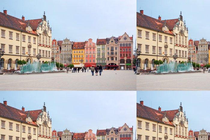 Tapeta Pixerstick Polsko, náměstí ve Vratislavi - Témata