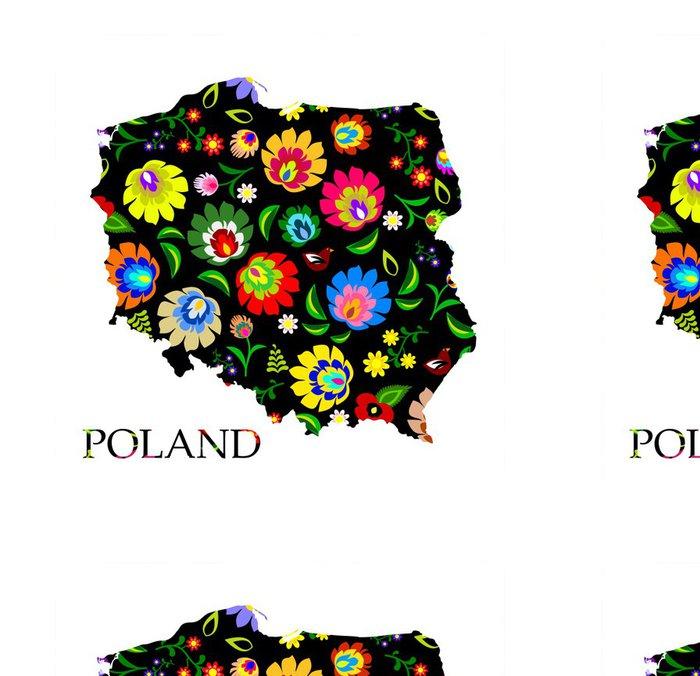 Tapeta Pixerstick Polsko tvar plněné tradiční polské lidové vzor vektoru - Evropa
