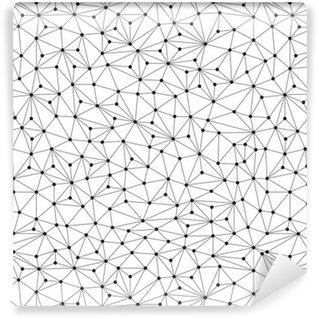 Vinylová Tapeta Polygonální pozadí, bezešvé vzor, čáry a kruhy