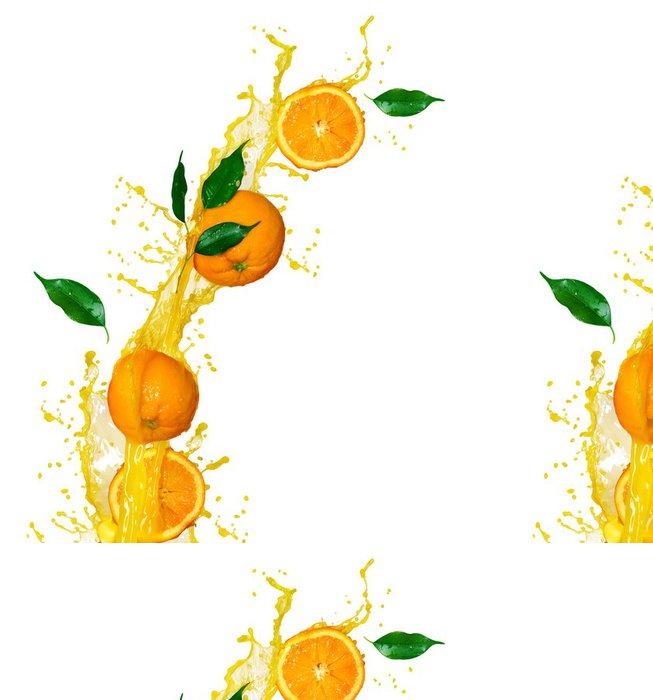 Tapeta Pixerstick Pomerančová šťáva izolovaných na bílém - Ovoce