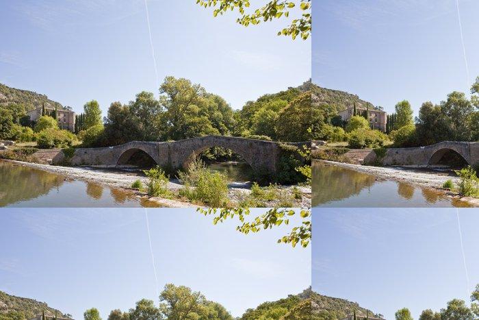 Tapeta Pixerstick Pont et château du moyen âge - Město