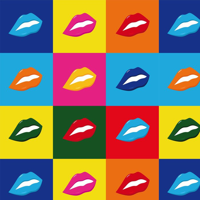 Tapeta Pixerstick Pop art Lippen - Témata