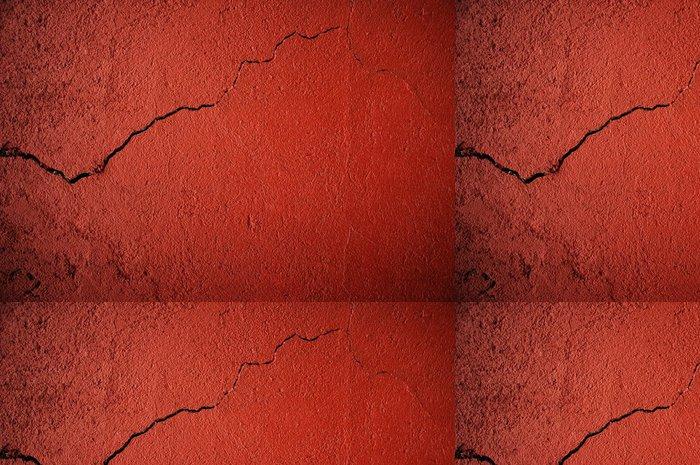 Tapeta Pixerstick Popraskané červené zdi - Život