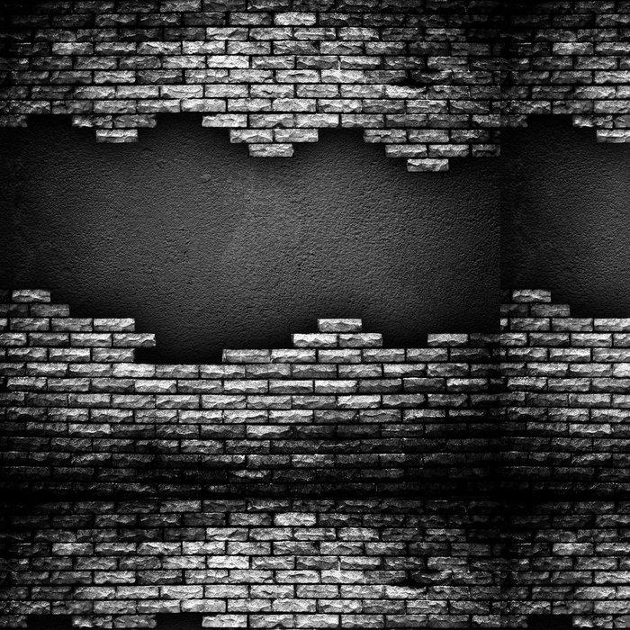 Tapeta Pixerstick Popraskané cihlové zdi - Těžký průmysl