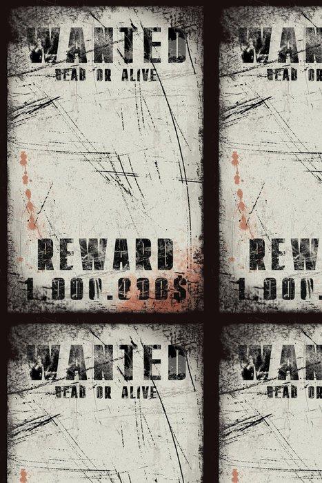 Tapeta Pixerstick Poptávkový plakát s krevními skvrnami ve stylu grunge - Čas