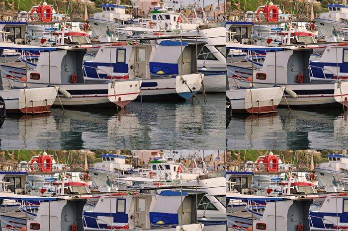 Tapeta Pixerstick Port de Lampedusa - Sicile Italie - Evropa
