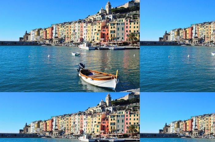 Tapeta Pixerstick Portovenere, Itálie a jeho barevné domy - Evropa