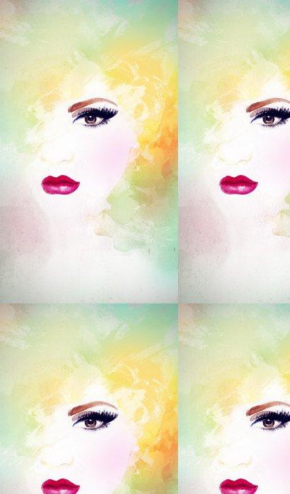 Tapeta Pixerstick Portrét ženy .abstract akvarel .fashion pozadí - Žena