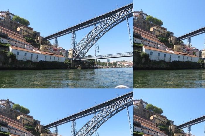 Tapeta Pixerstick Portugalsko - Porto - Vila Nova de Gaia - Pont Dom Luis - Prázdniny
