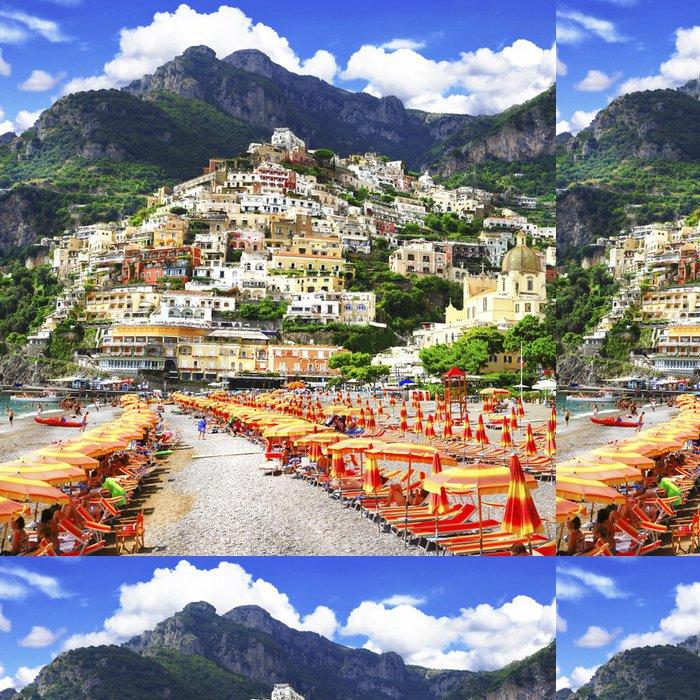 Tapeta Pixerstick Positano - letní dovolená v Amalfi pobřeží Itálie - Evropa
