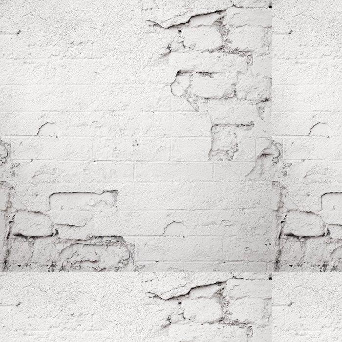 Vinylová Tapeta Poškozené bílá cihlová zeď - Témata