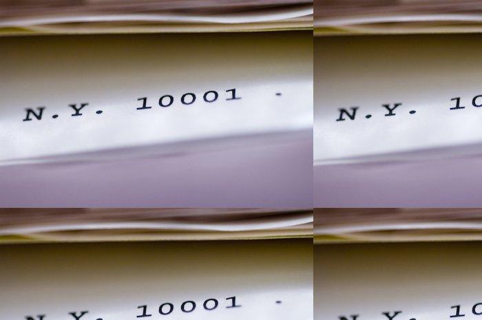 Tapeta Pixerstick Poštovní směrovací číslo - Čtení