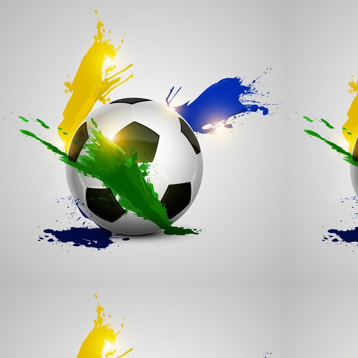 Tapeta Pixerstick Postříkat fotbalový míč -