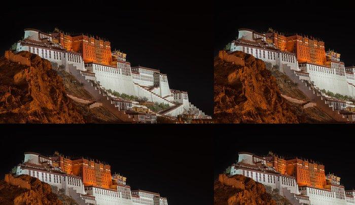 Vinylová Tapeta Potala palác v Tibetu v noci - Asie
