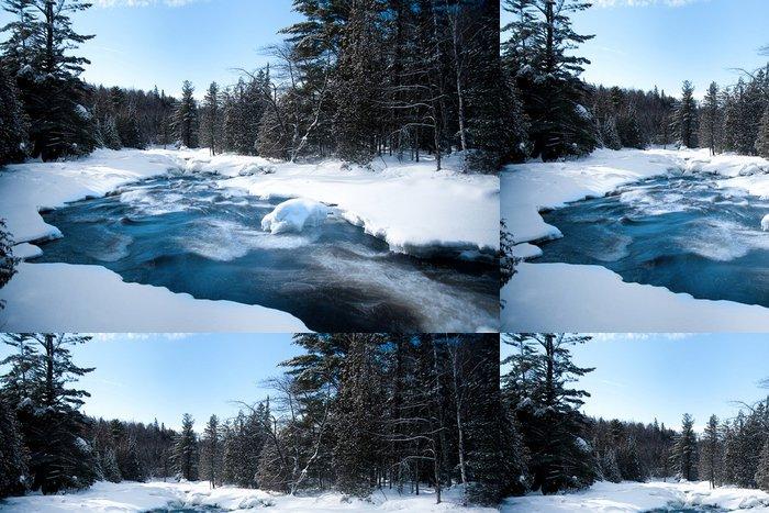 Vinylová Tapeta Potok v zimě - Roční období