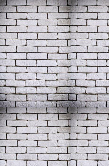 Tapeta Pixerstick Pozadí bílé cihlové zdi textury - Témata