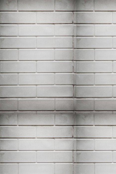 Tapeta Pixerstick Pozadí bílou cihlovou zeď. - Těžký průmysl
