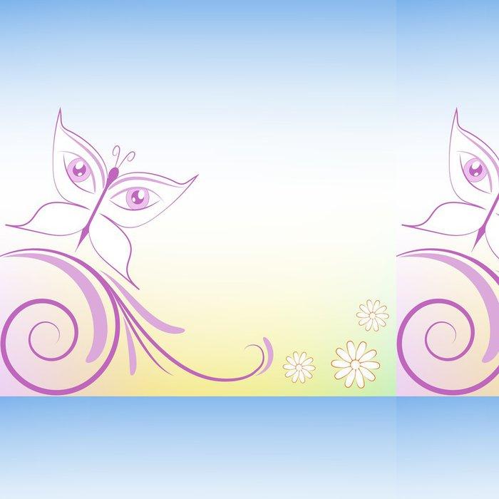 Tapeta Pixerstick Pozadí decorazione floreale farfalla Occhi - Roční období
