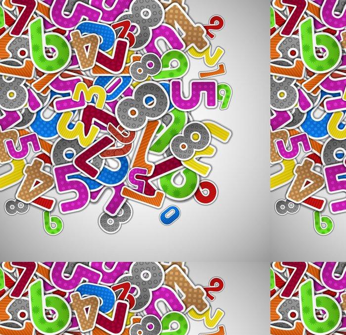 Tapeta Pixerstick Pozadí s barevnými čísly -