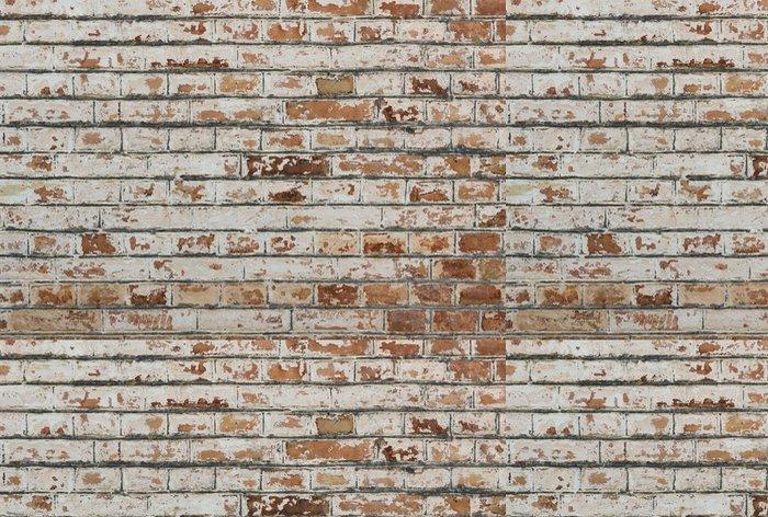 Tapeta Pixerstick Pozadí starých vintage špinavé cihlové zdi s omítkou loupání - Evropa