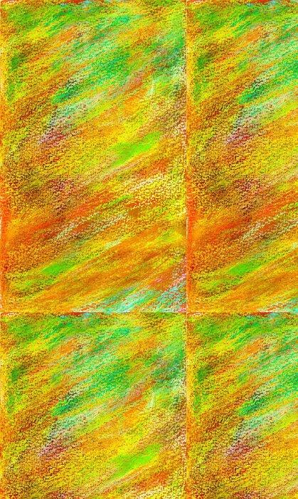 Tapeta Pixerstick Pozadí v zelené, červené a žluté v pastelových akvarelů - Abstraktní