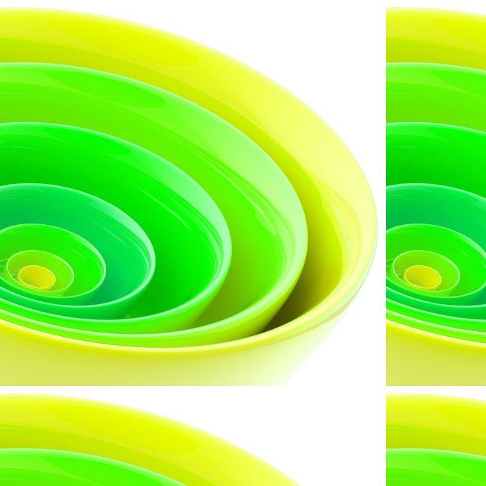 Tapeta Pixerstick Pozadí z abstraktních plastových kruhů - Pozadí