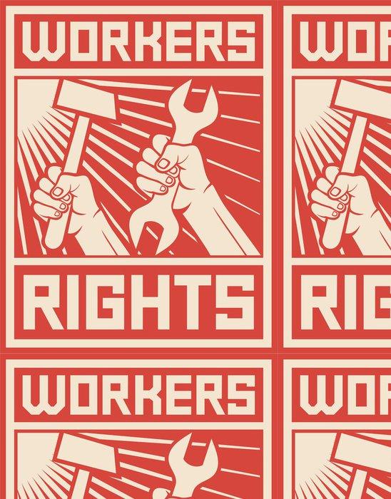 Vinylová Tapeta Pracovníci práva plakát - Pozadí
