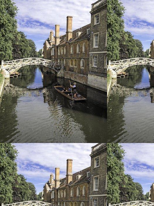 Tapeta Pixerstick Pramice postavili na řece v Cambridge v Anglii - Město
