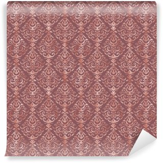 Vinylová Tapeta Prašná růžová a růžová zlatá fólie damask vzor