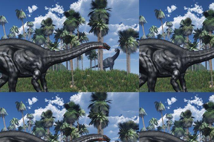 Tapeta Pixerstick Pravěké scény s dinosaury - 3D vykreslování - Témata