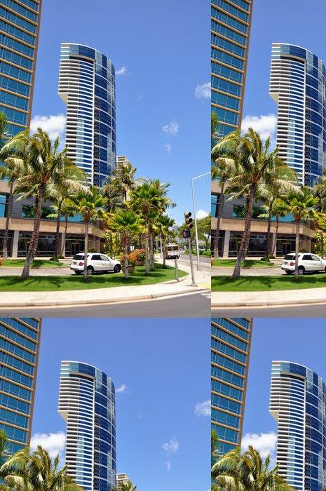 Vinylová Tapeta Přední byty pláže. Honolulu - Amerika