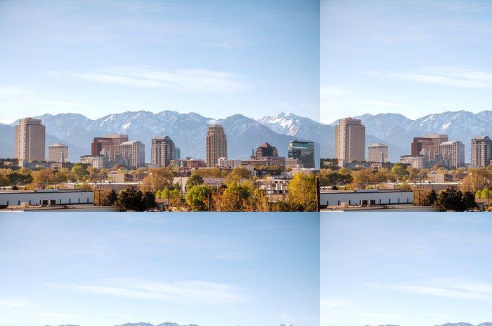 Tapeta Pixerstick Přehled centrální Salt Lake City - Amerika