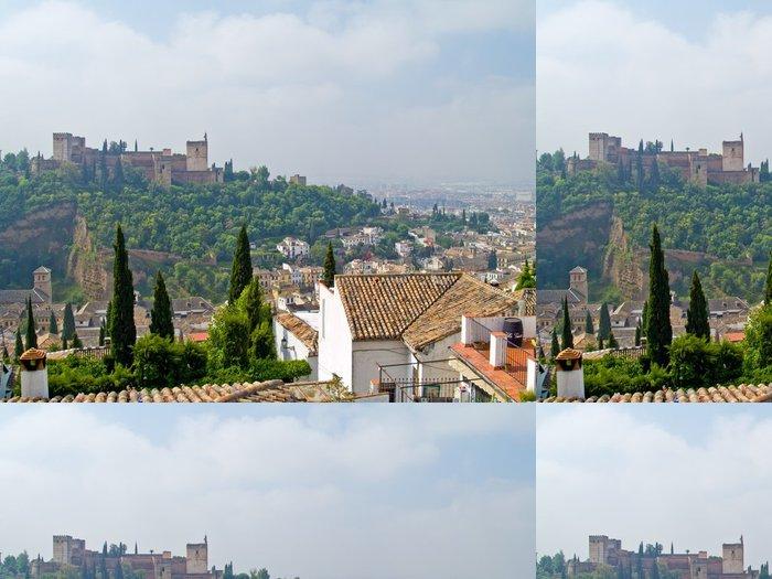 Tapeta Pixerstick Přehled Granada a Algambra, Španělsko - Prázdniny