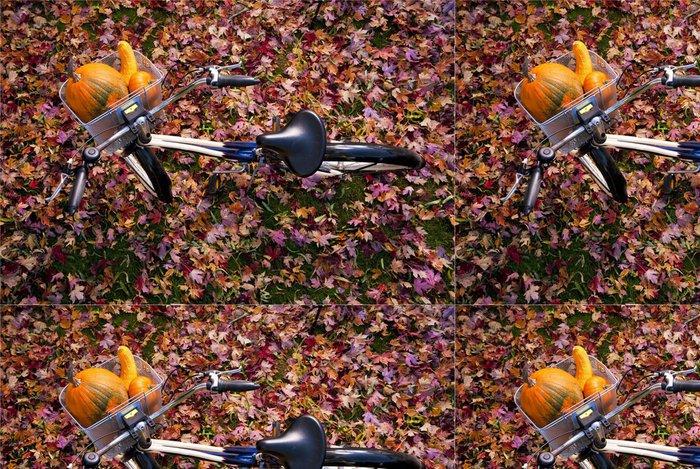 Tapeta Pixerstick Přehled kole s dýně v výborně koši - Na cestě