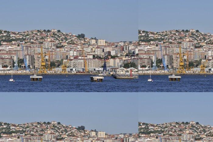 Tapeta Pixerstick Přehled Vigo, největší město v Galicii v severozápadním Sp - Prázdniny