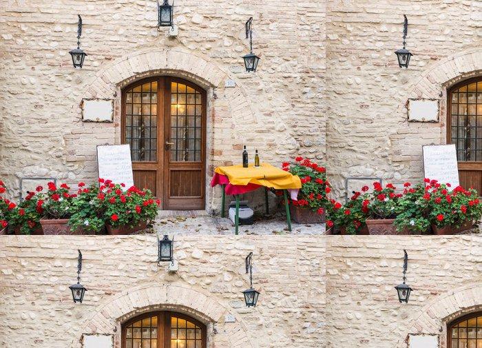 Tapeta Pixerstick Přihlásit se typická italská restaurace - Témata