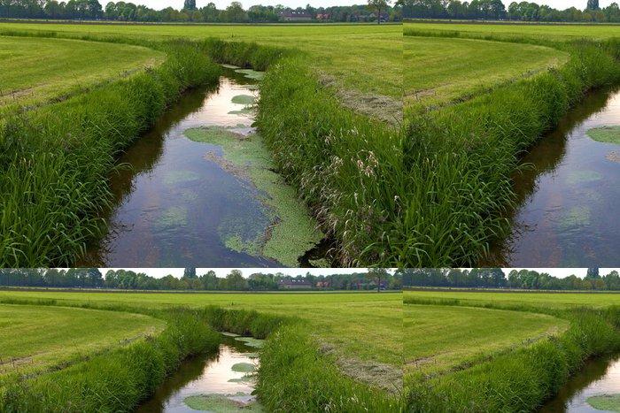 Tapeta Pixerstick Příkop v holandské krajiny - Zemědělství