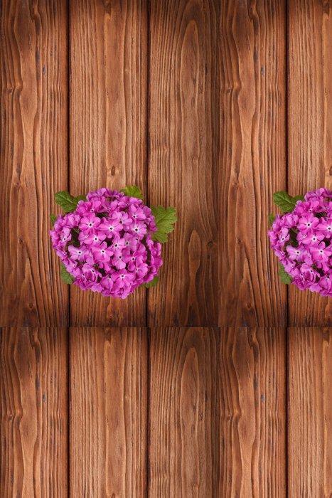 Tapeta Pixerstick Primrose na dřevěný stůl. pohled shora - Květiny
