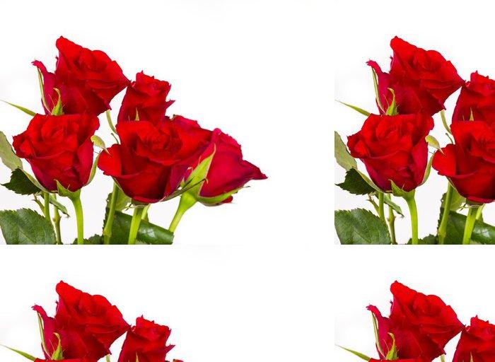 Tapeta Pixerstick Přírodní červené růže pozadí - Imaginární zvířata